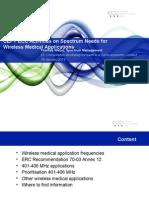 Presentation_Thomas W_ECO_Wireless Medical Frequencies 18 Jan 2012