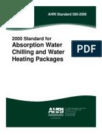 AHRI Standard 560-2000