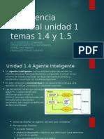 Inteligencia Artificial Unidad 1.4 y 1.5 Equipo 4