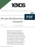 Por Qué Más Democracia Significa Más Corrupción