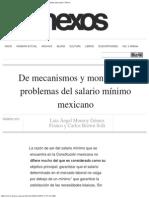 De Mecanismos y Montos Los Problemas Del Salario Mínimo Mexicano