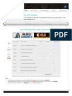 Anna University R2013 Online GPA Calculator