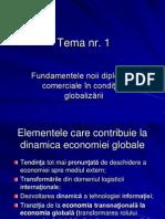 Fundamentele Noii Diplomaţii Comerciale în Condiţiile Globalizării