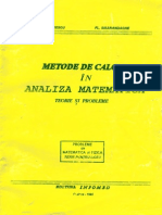Metode de Calcul in Analiza Matematica
