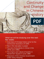 Continuity Change in Chinese History PP