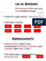 what are data types