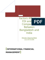 FDI in Bangladesh or India