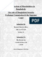 Situation of the Shareholders in Bangladesh