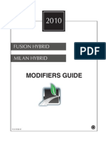 2010 Fusion Hybrid Modifiers Guide