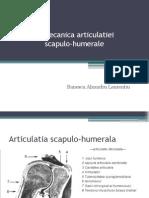 Biomecanica Articulatiei Scapulo Humerale - Banescu