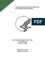 U.S. DHHS OIG Medicaid Fraud Control Units Annual Report 2008