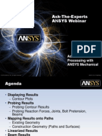 Ansys Mechanical PostProcessing