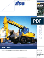 Catalogo Excavadora Hidraulica Ruedas Pw220 Komatsu
