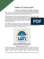 Pendaftaran Online UIN Jakarta 2015