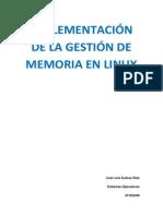 Implementación de la Gestión de Memoria en Linux