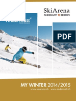 Andermatt Swiss Alps Winter Map