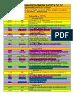 Calendário 2015 Ufmbdf - Colorido