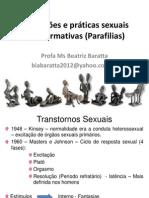 Disfunções e práticas sexuais não normativas (Parafilias)