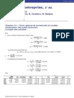 modèle d 'évaluation des actifs financiers , corrigé Berk demarzo finance d entreprise