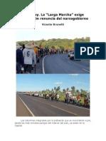 Paraguay. La ´Larga Marcha´ exige en Asunción renuncia del narcogobierno - Vicente Brunetti