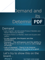 demand and its determinants