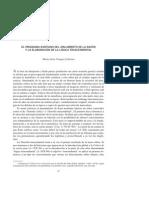 Vázquez Lobeiras - El Programa Del Aislamiento de La Razón y La Elaboración de La Lógica Trascendental