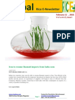 11th February,2015 Daily Global Rice E_Newsletter by Riceplus Magazine