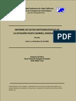 Reporte Técnico Meteorológico de la Ciudad de Ensenada, México.
