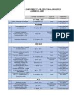 Calendarul Actiunilor 2015 - c.m