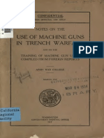 Notes on the Use of Machine Guns in Trench War