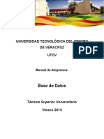 Manual - Base de Datos - Agosto 2013