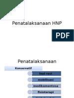 Penatalaksanaan HNP