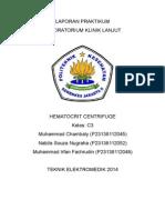 Laporan Praktikum Hematocrit