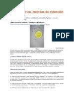 produccion acido citrico