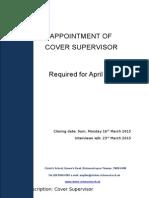 Cover Supervisor