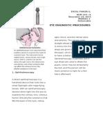 Eye Diagnostic Proc