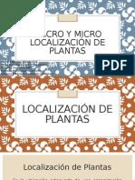 Macro y Micro Localización de Plantas