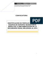 Convocatoria - Identificación de Perfiles SRM 2015 Final