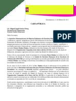 Carta Pública / Preocupa a IM-Defensoras situación de Norma Mesino (120215)