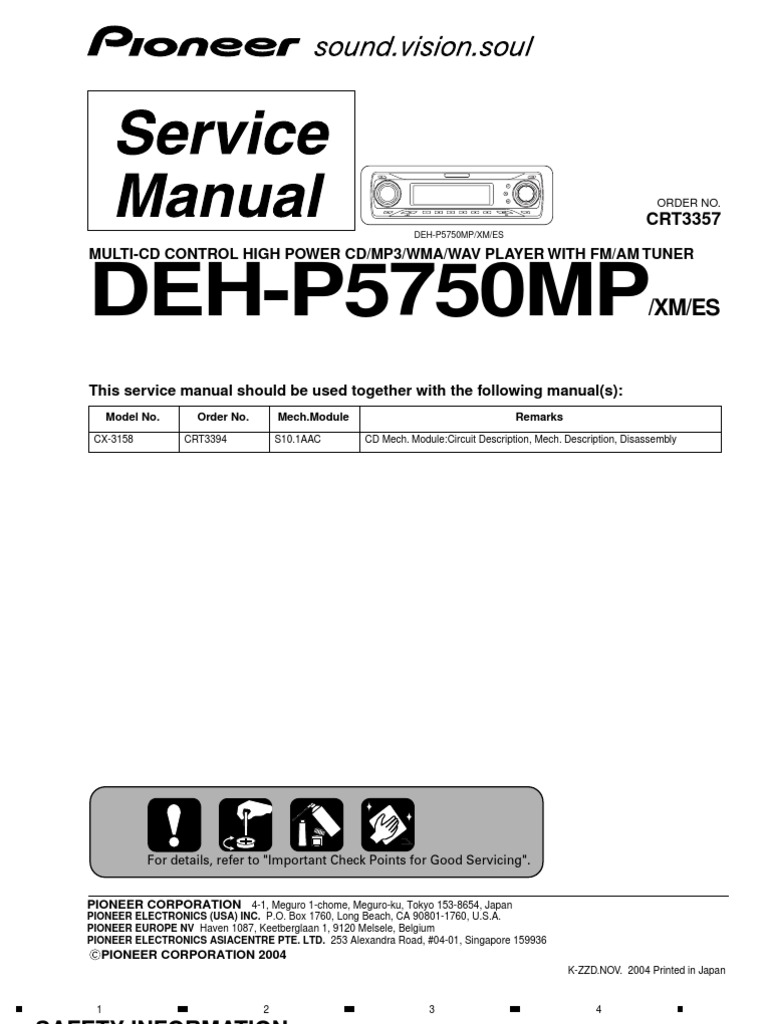 pioneer deh p5750mp service manual electrical connector inductor rh scribd com Residential Electrical Wiring Diagrams 3-Way Switch Wiring Diagram