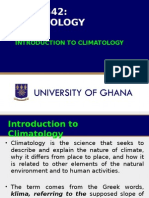 Introduction to Climatology