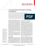 Use and Misuse of the Gene Ontology Annotations