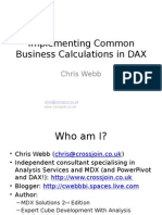 Implementing Common Business Calculations in DAX - Chris Webb