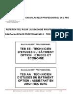 Référentiel Seconde Bac Pro TEB 24-06-09[2].Doc - BacProTEB_EE_AA