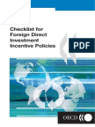 Guiding Principles for Policies Toward Attracting Foreign Direct Investment