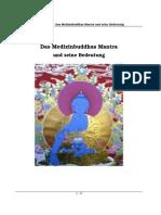 Medizinbuddha Mantra Erklärung