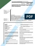 Nbr 13697 - Equipamentos de Protecao Respiratoria - Filtros Mecanicos