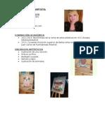 Curriculum Artista