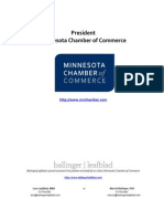 Executive Profile - MN Chamber of Commerce - President