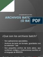 Archivos Batch Bat